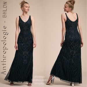 NWT ANTHROPOLOGIE BHLDN MIDNIGHT SUTTON DRESS 2